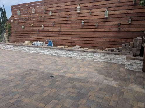 Coronado Stone Veneer Finish on Planter Wall
