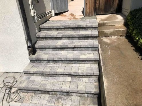 Steps: Gray Charcoal Antique Cobble 1 Steps