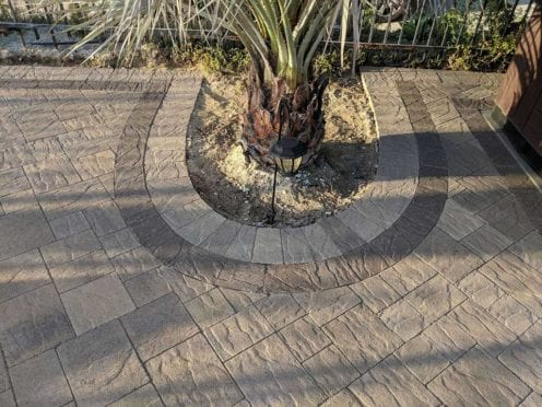 Borders: Slate Paver Sand Stone Mocha with Double Border