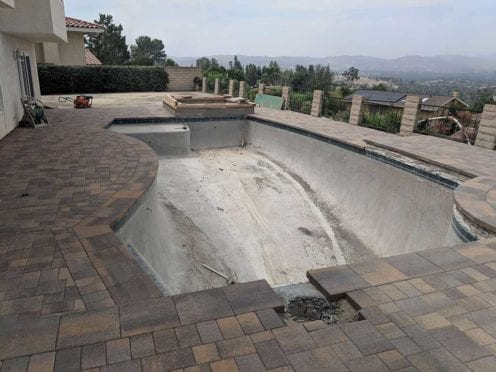 Tuscan Pool Deck with 15x15 Pool Coping Pavers